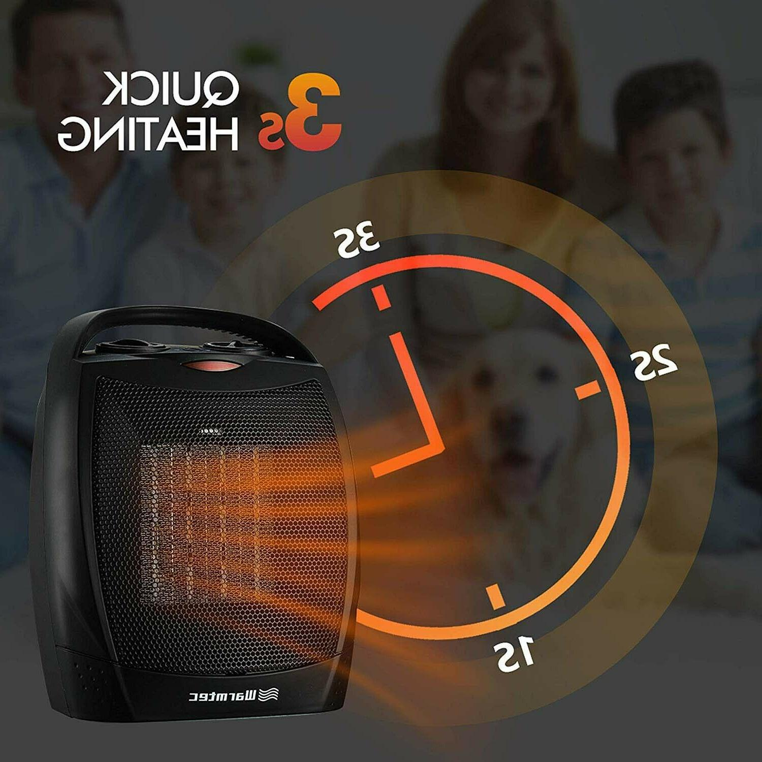 Portable Ceramic Space Mini Thermostat with