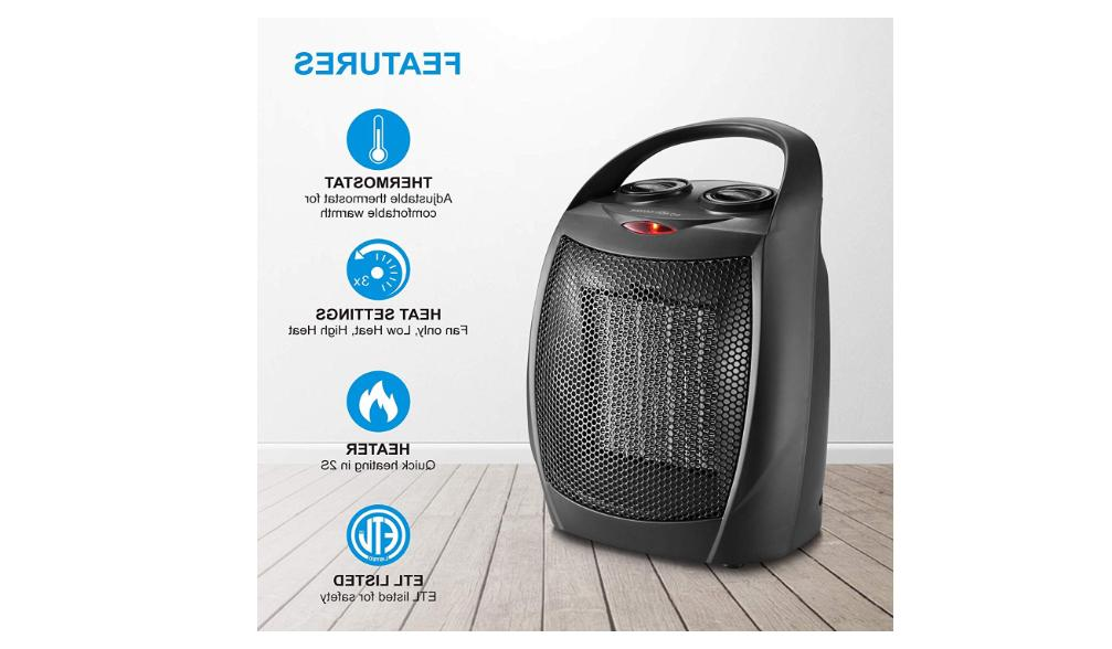 Portable Ceramic Space Heater Mini Electric Adjustable Therm