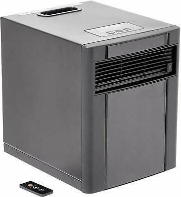 portable eco smart space heater black