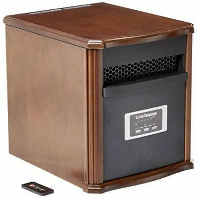 portable space heater 1500w wood casing