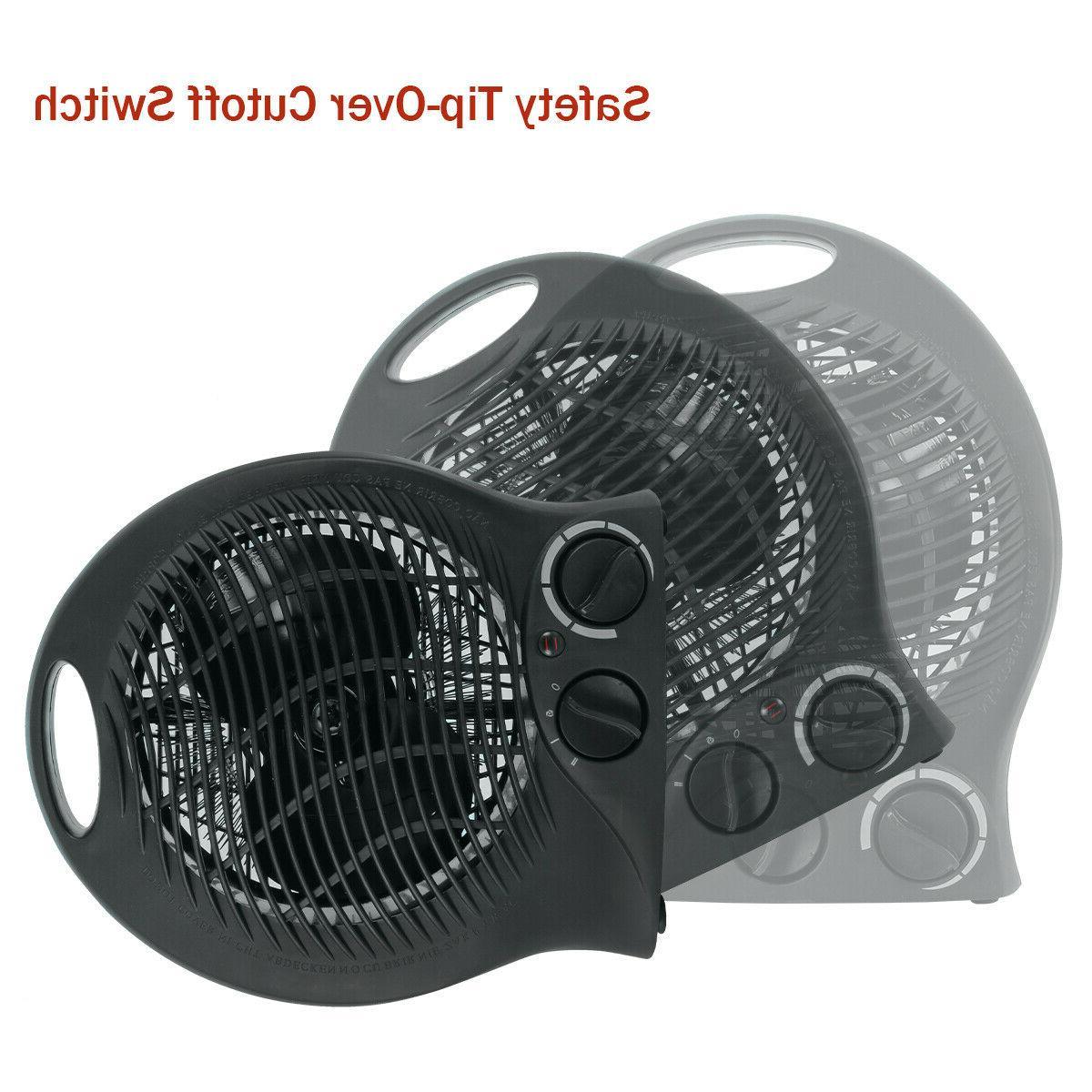 Portable Electric Space Heater 3 Settings Fan Forced