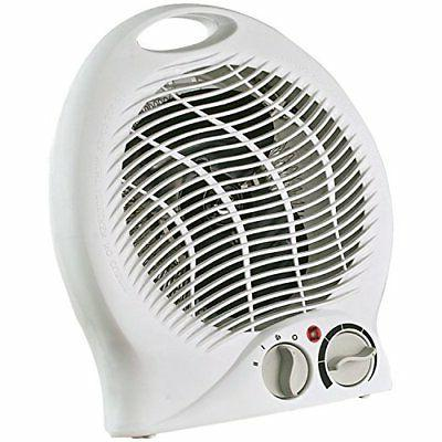 portable electric space heater w thermostat white