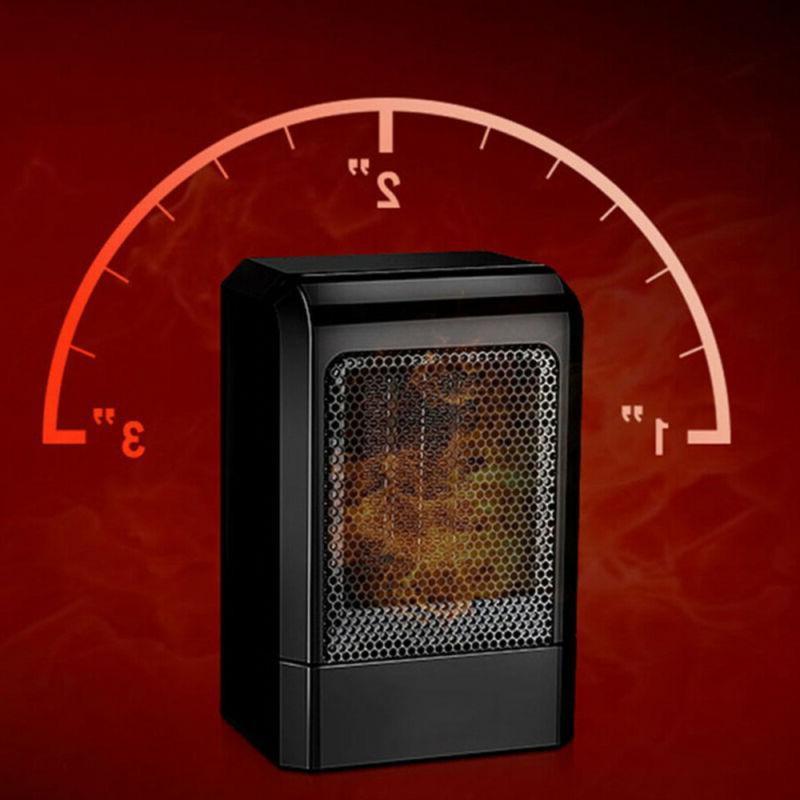 Portable Space Heater - 500W with Adjustable Thermostat