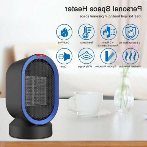 Portable Mini Electric Space Heater Fan 600W Handy Air Warme
