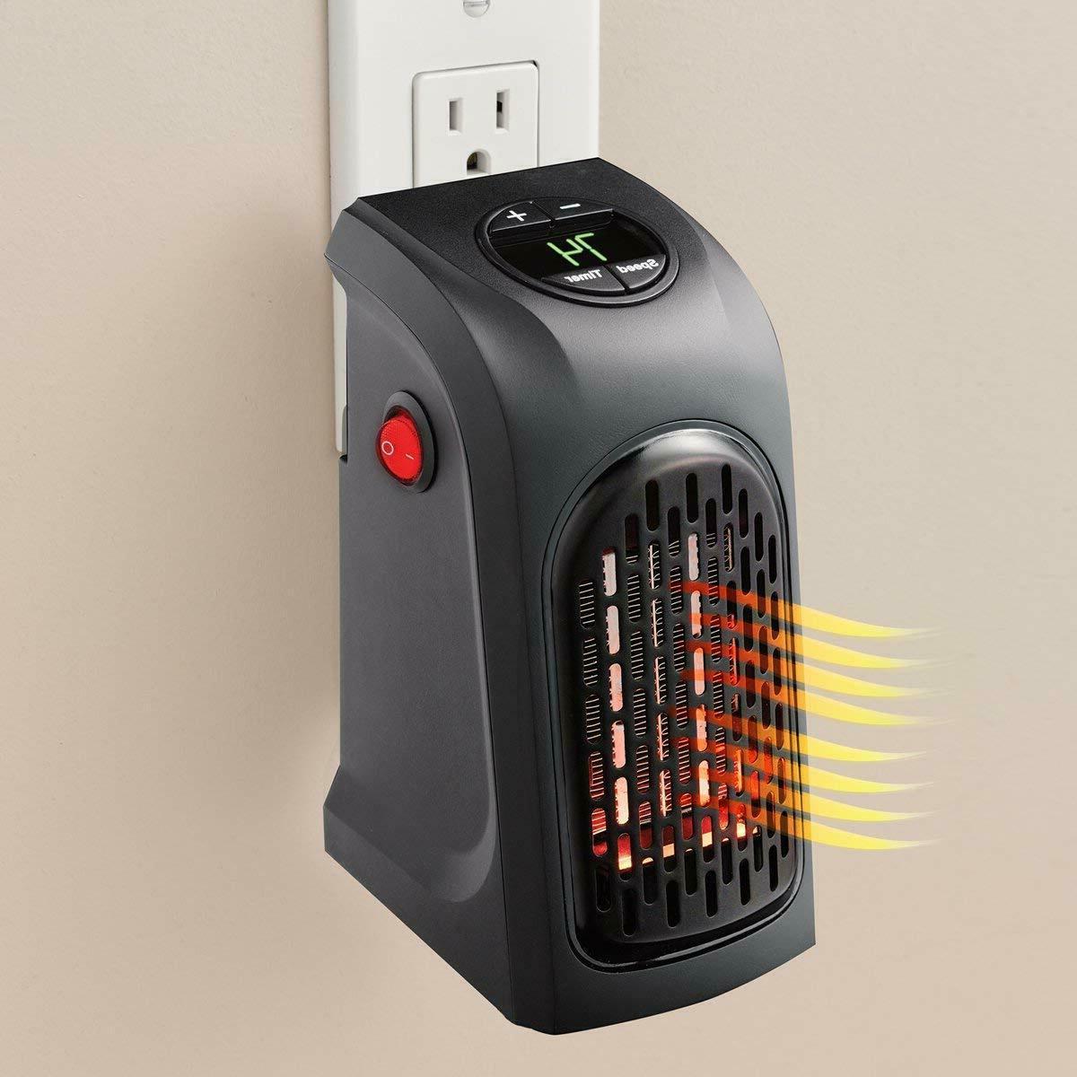 portable mini heater plug in 350 watts