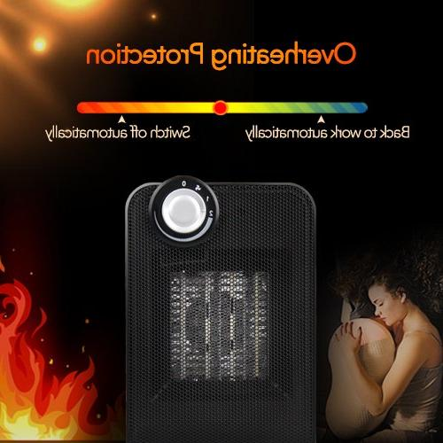 Portable Ceramic 1500W Fast Oscillating Function, Overheating Tip-Over Protection, Office Home Rooms