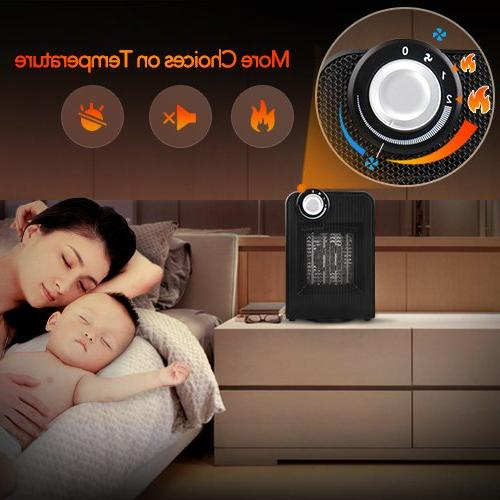 Portable Heater, 1500W Fast with Oscillating & Tip-Over Office Home