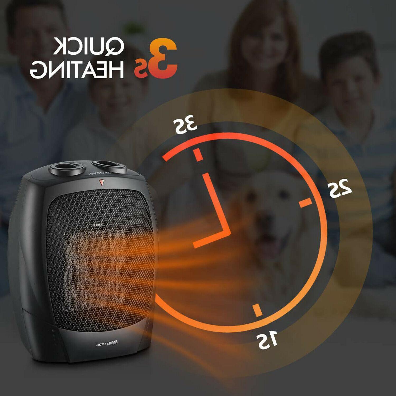 Portable Space Mini 1500W Thermostat