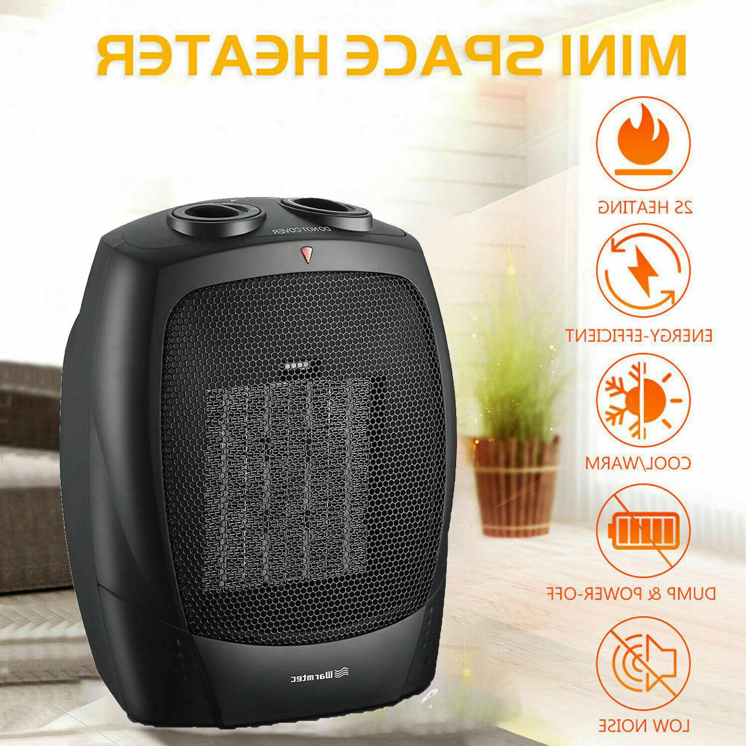 PTC Ceramic Space Heater Portable Fan Electric Room Office H