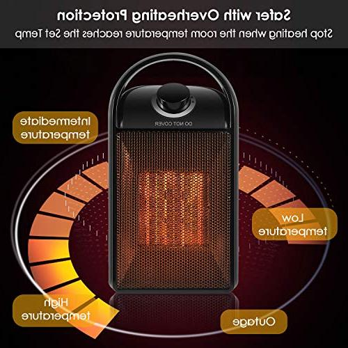 1500W Quick Space Heater with Safety Tip Switch