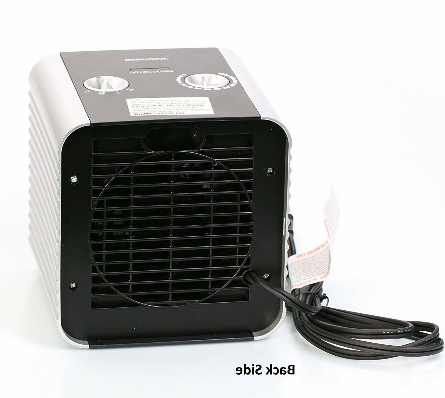 Quiet Ceramic Space Heater 750W/1500W ETL Listed Adjustable