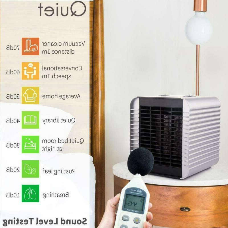 Quiet With Adjustable Thermostat Electric Fan Heat