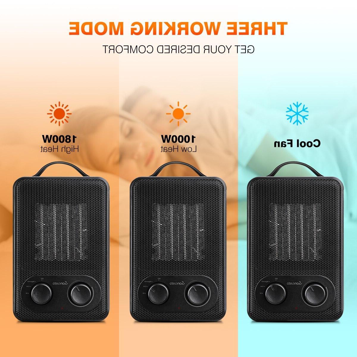 Sancusto DH-QN03 1800W Auto-Oscillation Overheating Carrying Perfect Home <font><b>Space</b></font> <font><b>Heater</b></font>