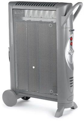 silent micathermic console heater gray space heaters