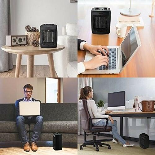 Small Office Space Heater Under-Desk Compact Portable