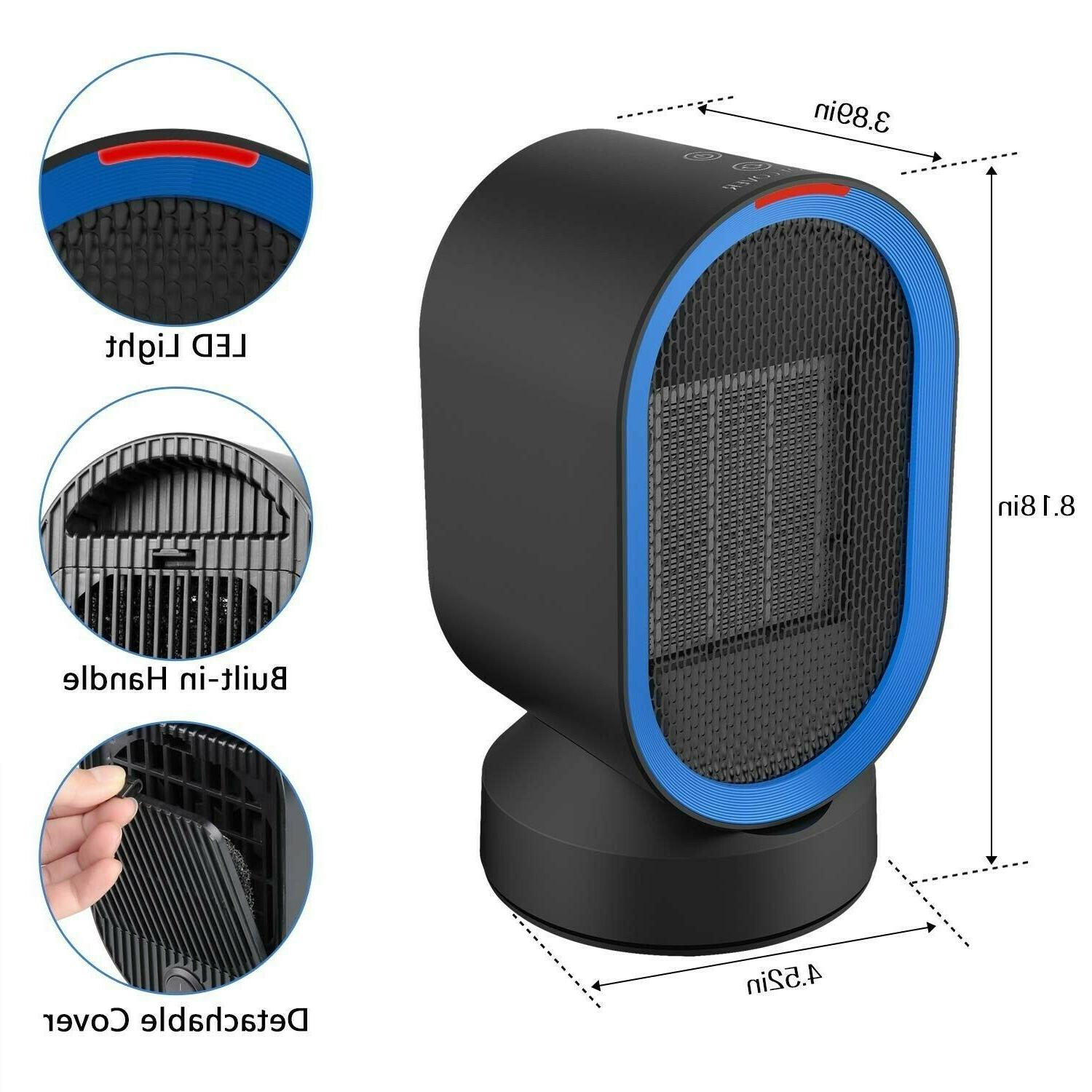 Small Space Heater Oscillating Portable Ceramic