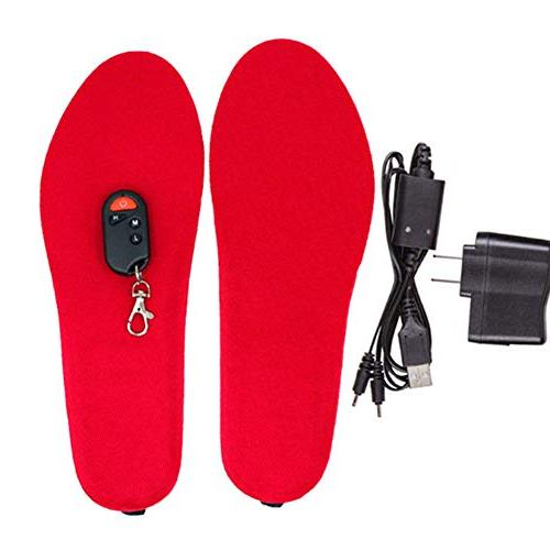 XuBa Rechargeable Heating Insole Control for Winter Supplies European Regulation Black 41-46