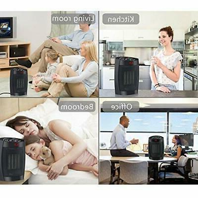 WONNIE Space Heater for Office Home 1500W Mini Fan