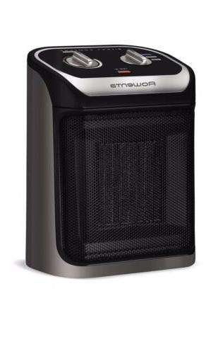 space heater with cool touch handle compact
