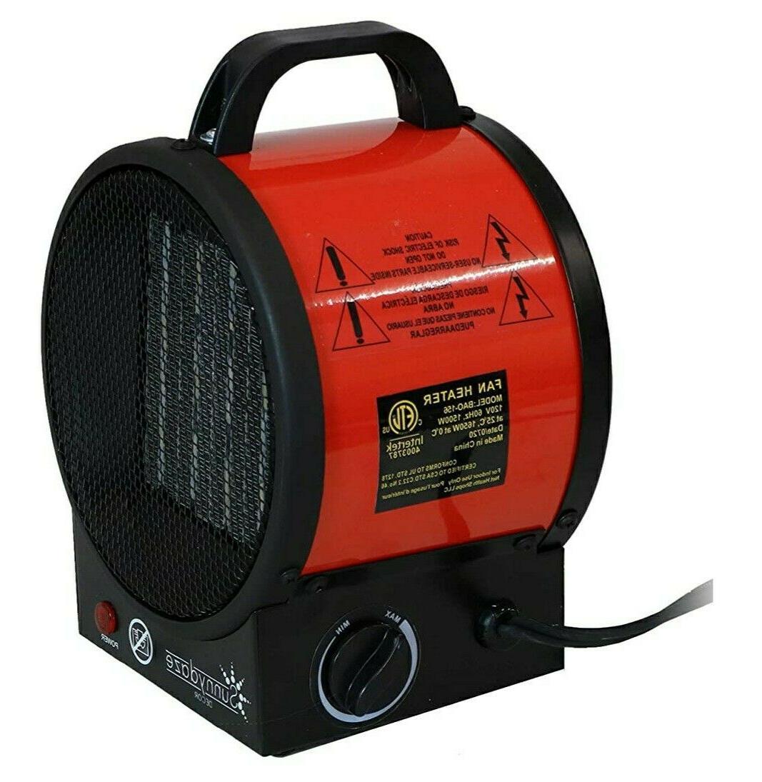 sunnydaze portable ceramic electric space heater