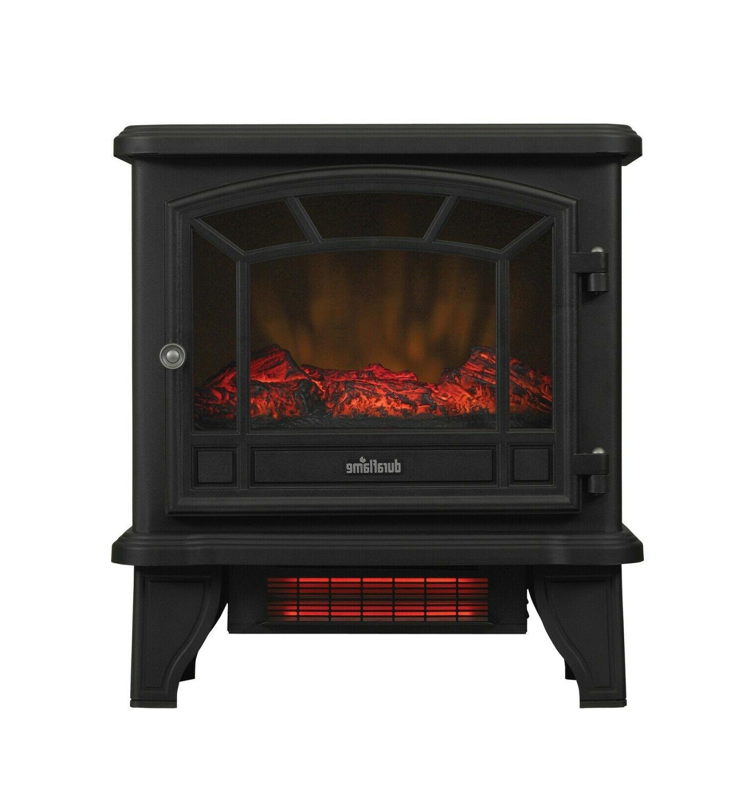 Infrared Fireplace Electric Metal Black NEW