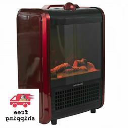 Comfort Zone Mini Ceramic, Electric Fireplace Stove 3D Fan-F