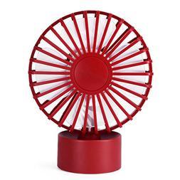 Chezaa Mini Fan,Portable Super Mute PC USB Cooler Desk Mini