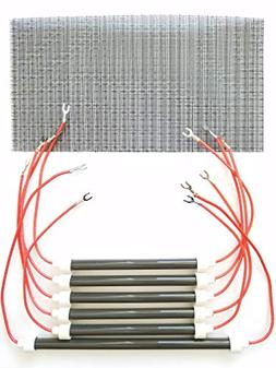 SET OF 6 OEM BULBS/HEATING ELEMENTS + Filter for EdenPURE XL