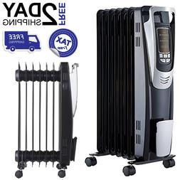Oil Filled Radiator Electric Space Heater Portable 1500W  Pr