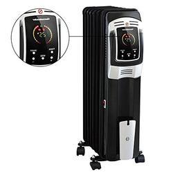Oil Filled Radiator Heater, Digital Electric Full Room Oil H