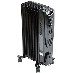 1500 Watt Oil Filled Radiator Heater - Black