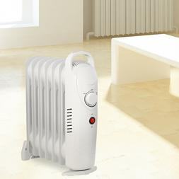 Oil Filled Radiator Space Heater 700W Electric 7Fin Room Rad