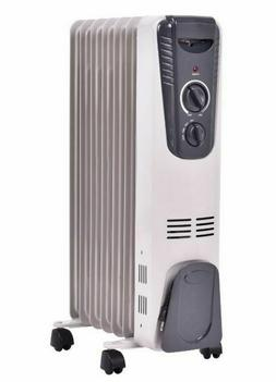 Oil Heater Safe Space Heater Large Room Radiator 1500W High