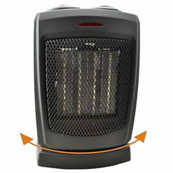 Oscillating Ceramic Electric Space Heater with Adjustable Th