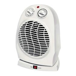 Oscillating Compact Space Heater Fan Portable Home 1500W, Ad