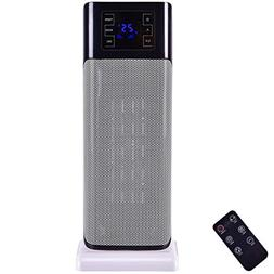 1500W Oscillating Timer Space Heater with Remote Control - B