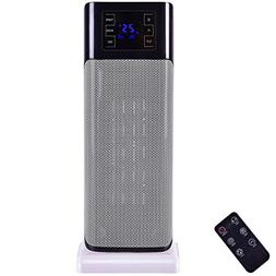 1500W Oscillating Digital Tower Space Heater with Remote Con