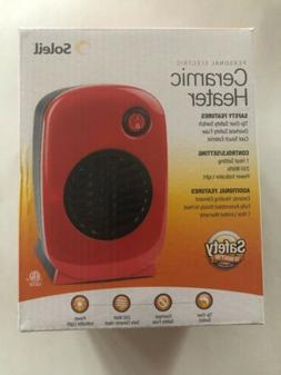 Soleil Personal Electric Ceramic Heater 250W - Red