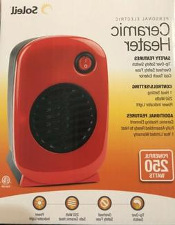 Soleil Personal Electric Small Portable Ceramic Space Heater