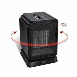 Personal Space Heater, 1500W Electric Ceramic Mini Black