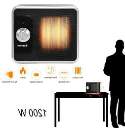 Personal Space Heater Mini Portable Ceramic Heater Black Qui