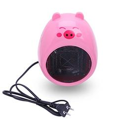 Pink Mini Cartoon Durable Personal Ceramic Space Heater Elec