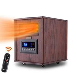 Portable 1500W 6-Element Infrared Electric Space Heater with