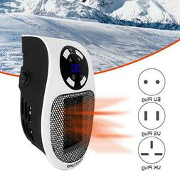 Portable 500W Ceramic Electric Space Heater Thermostat Quiet