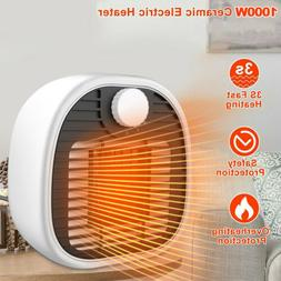 Portable Ceramic Space Heater - 1000W Electric Heater with A