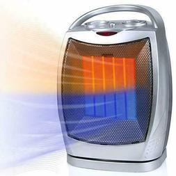 Portable Ceramic Space Heater 1500W/750W, 2 in 1 Oscillating