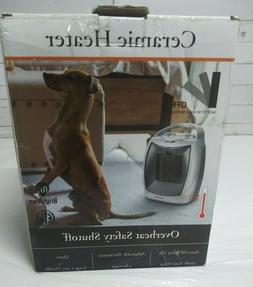 PORTABLE CERAMIC SPACE HEATER - ADJUSTABLE THERMOSTAT 750W -