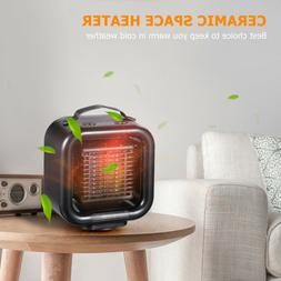 1000W Silent Ceramic Space Heater with Adjustable Thermostat