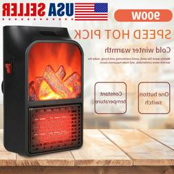 Portable Electric Space Heater 900W Heater Safe & Quiet For