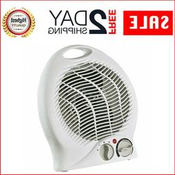 Portable Electric Space Heater w/ Thermostat White Home Larg